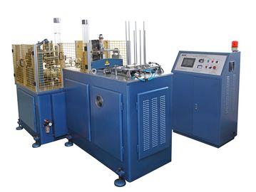 China Máquina descartável da produção do copo de papel de SSM-1100K 5kw, maquinaria da luva do copo de papel distribuidor